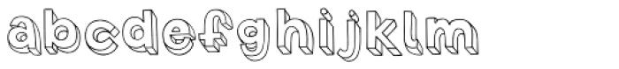 3D Blocky Font LOWERCASE