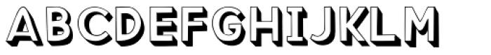 3D Bricky Neue Font UPPERCASE