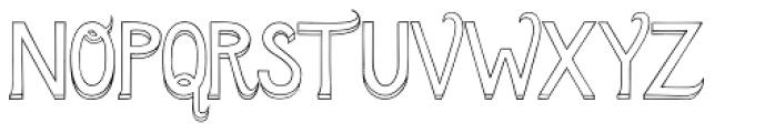 3D Cursive Font UPPERCASE
