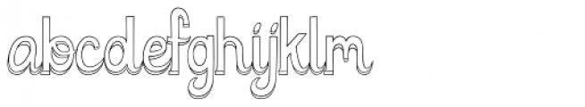 3D Cursive Font LOWERCASE