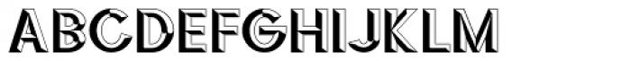 3D Fantablock Beveled Font UPPERCASE