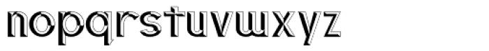 3D Fantablock Beveled Font LOWERCASE