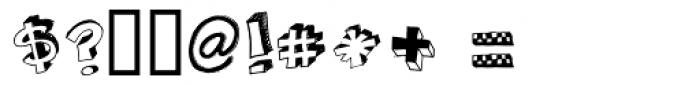 3D Regular Font OTHER CHARS