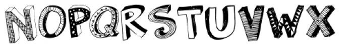 3D Regular Font UPPERCASE