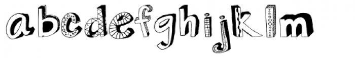 3D Regular Font LOWERCASE