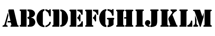 4077th Font UPPERCASE