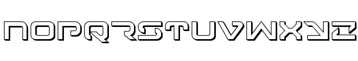 4114 Blaster 3D Font LOWERCASE