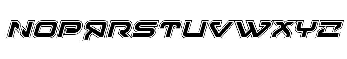 4114 Blaster Academy Italic Font UPPERCASE