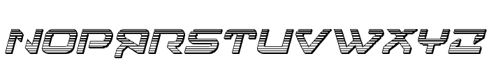 4114 Blaster Chrome Italic Font UPPERCASE