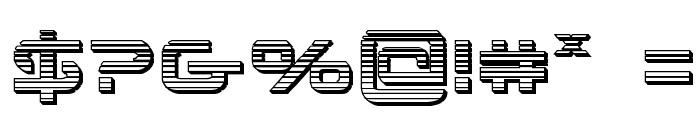 4114 Blaster Chrome Font OTHER CHARS