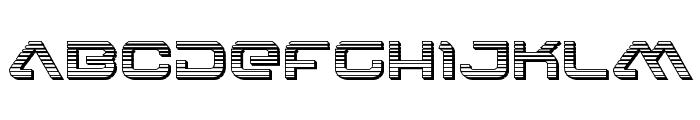 4114 Blaster Chrome Font UPPERCASE