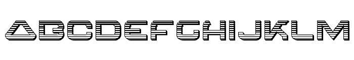 4114 Blaster Chrome Font LOWERCASE