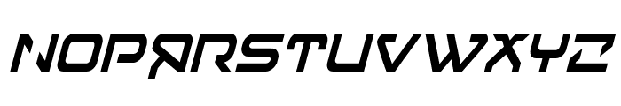 4114 Blaster Condensed Italic Font UPPERCASE