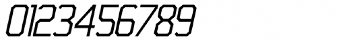 45 Degrees Light Italic Font OTHER CHARS