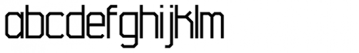 45 Degrees Light Font LOWERCASE