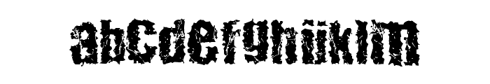 48ver lost Font LOWERCASE