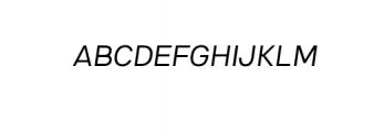 4NeutralGrotesk-LightItalic.ttf Font UPPERCASE