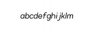 4NeutralGrotesk-LightItalic.ttf Font LOWERCASE