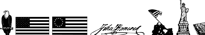 4th of July Reflections Font LOWERCASE