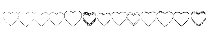 4YEOhearts Font UPPERCASE