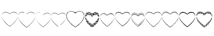 4YEOhearts Font LOWERCASE