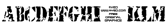 4YEOstamp Font LOWERCASE