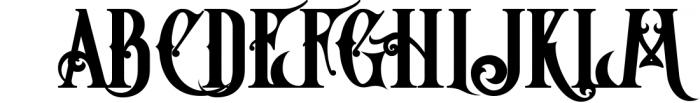 5 Fonts Bundle 1 15 Font UPPERCASE