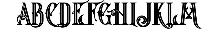 5 Fonts Bundle 1 16 Font UPPERCASE