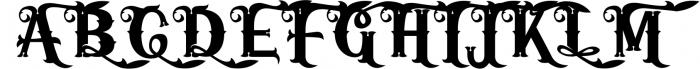 5 Typeface vintage bundle 5 Font UPPERCASE