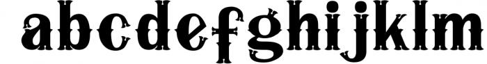 5 Typeface vintage bundle 5 Font LOWERCASE