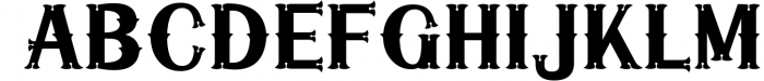 5 Typeface vintage bundle 6 Font UPPERCASE