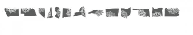 50 states mandala dingbat font Font LOWERCASE