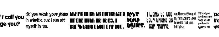 52 Pickup Font UPPERCASE