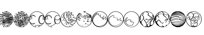 52 Sphereoids Font UPPERCASE