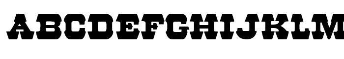 57 Rodeo Regular Regular Font UPPERCASE