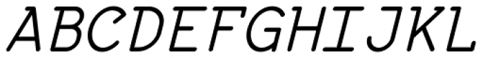 57-nao Regular Oblique Font UPPERCASE