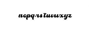 70s Font LOWERCASE