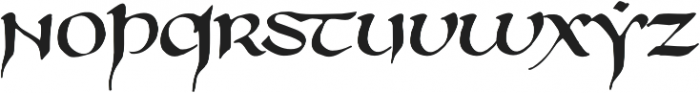 750 Latin Uncial otf (400) Font LOWERCASE