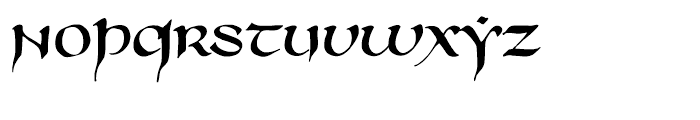 750 Latin Uncial Normal Font LOWERCASE