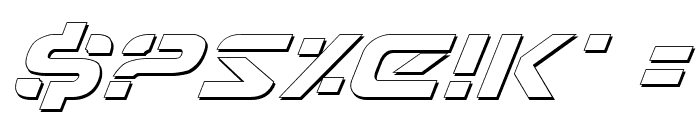 7th Service Outline Italic Font OTHER CHARS