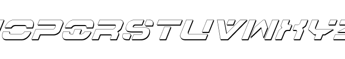 7th Service Outline Italic Font UPPERCASE