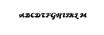 80s Font UPPERCASE