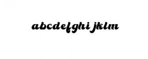 80s Font LOWERCASE