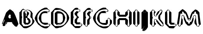 80 Decibels Font UPPERCASE