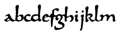 825 Karolus Normal Font LOWERCASE