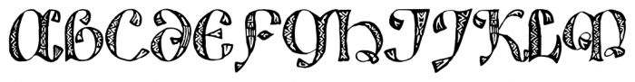825 Lettrines Karolus Regular Font UPPERCASE