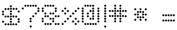 8Pin Matrix Font OTHER CHARS