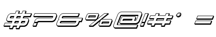911 Porscha 3D Italic Font OTHER CHARS