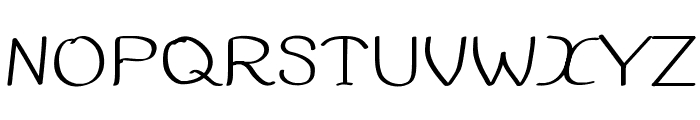 99%HandWritting Font UPPERCASE
