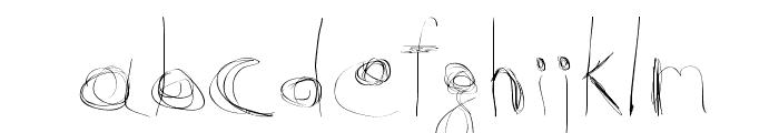 99%LineScratch Font LOWERCASE